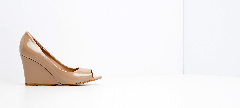 Buty na koturnie reserved 80C biały